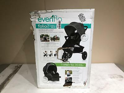 Evenflo Folio3 Stroll & Jog Travel System with LiteMax 35 Infant Car Seat Avenue