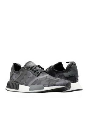 4647738cc8c9f Adidas NMD R1 Mens Size 10.5 Duck Camo Core Black Grey Four F17 Grey Five  D96616
