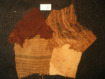 Authentic Pre Columbian Inca Chancay Fabric Textiles, 500 Year Old Cloth, #1