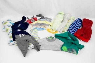 Lot of 19 Boys Baby Clothes 0-3 Months T-Shirt Pajamas Jacket Carter's