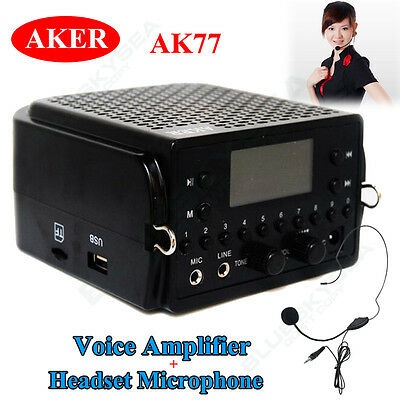 Aker AK77 7.4V Voice Booster Amplifier Loudly Speaker + Wired Microphone Headset