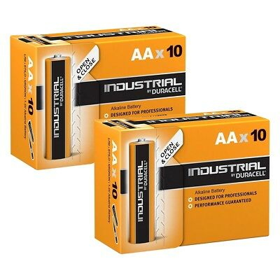20x NEW Duracell INDUSTRIAL AA LR6 MN1500 Alkaline Batteries Replaces Procell AA