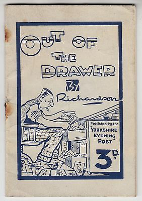 """OUT OF THE DRAWER - Yorkshire Evening Post """"Richardson"""" Cartoon Book - 1929"""