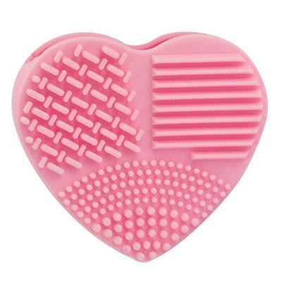 Silicone Heart Shape Cleaning Glove Makeup Washing Brush Scrubber Tool Cleaner