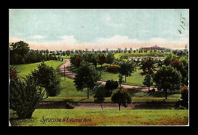Dr Jim Stamps Us Syracuse New York Burnet Park View Postcard