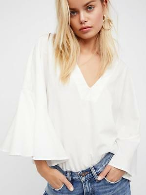 5f8061b7b19d2 DA37 Off White Deep V Tie Front Cold Shoulder Ruffle Blouse Top.  44.10 Buy  It Now 8d 20h. See Details. (NWOT FREE PEOPLE OFF-WHITE LYDIA TOP
