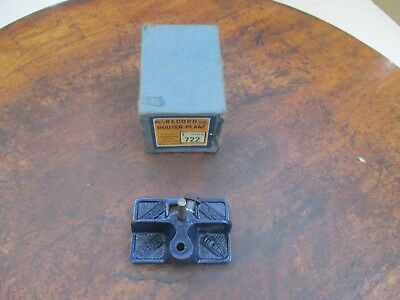 """Record Router Plane No 722 1/4"""" cutter"""