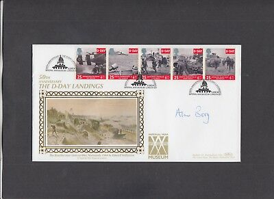 1994 D-Day Imperial War Museum Benham Official FDC signed by Director Alan Borg