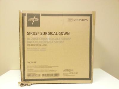 Medline DYNJP2001S Sterile Non-Reinforced Sirus Surgical Gowns Large, Blue 20 pk