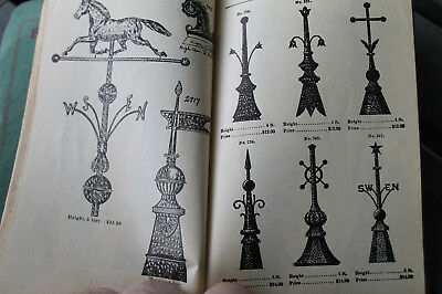 Vintage 1911 Tinner Tin Smith Roofing Weathervane Catalog Finial Cornice Gutter