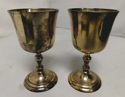 x2 Metal Collectable Medieval Small Goblets - PLT6 G17
