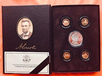2009 Lincoln Coin & Chronicles Set With All Ogp No Reserve Silver Copper Penny