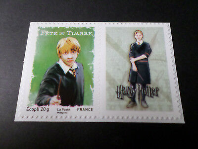 FRANCE 2007, PAIRE/VIGNETTE timbre 115, neuf**, AUTOADHESIF RON WEASLEY, MNH