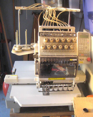 "Toyota Expert AD860 12 Needle Commercial Embroidery Machine ""NO POWER SUPPLY"""