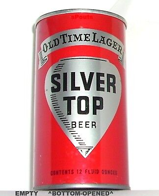 Silver Top Old Time Lager Beer Can Duquesne Philadelphia,pa-Cleveland,ohio-3City