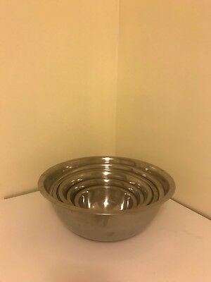 Vintage stainless steel nesting bowls