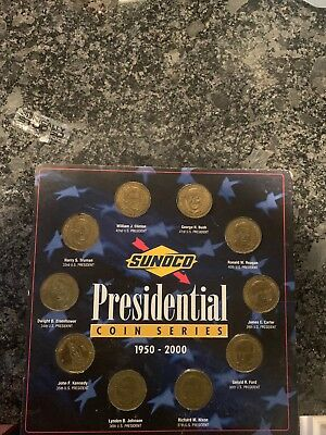 Vintage Sunoco Presidential Coin Series 1950-2000