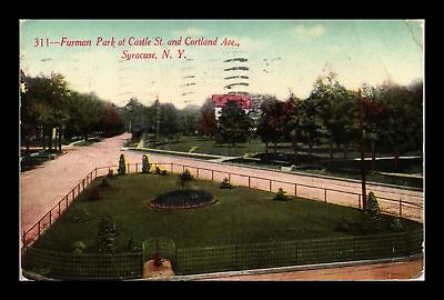 Dr Jim Stamps Us Furman Park Castle St Cortland Ave Syracuse New York Postcard