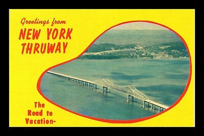 Dr Jim Stamps Us Greetings From New York Thruway Chrome View Postcard