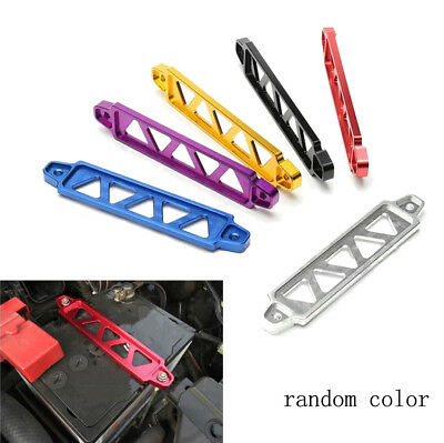 "170MM PURPLE BILLET ALUMINUM CAR /< 5.13/""BATTERY TIE DOWN MOUNT BRACKET BRACE KIT"