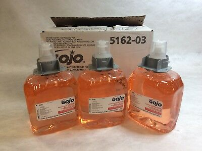 Gojo 5162 Luxury Foam Antibacterial Handwash Soap 1250 mL Box of 3 Refill