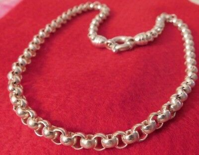 """Qvc Fancy Sterling Silver 925 18"""" Chain Necklace 57.2 Grams Toggle Clasp"""