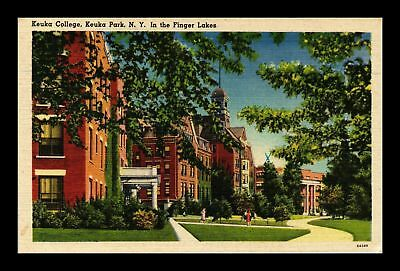 Dr Jim Stamps Us Keuka College Park New York Finger Lakes Linen View Postcard