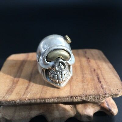 Antique Chinese Rare Collectible old Tibet Silver Handwork King Leoric Ring