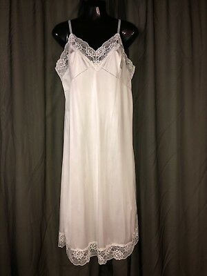 White Wide Lace LUXURY FULL SLIP Women's Size 38