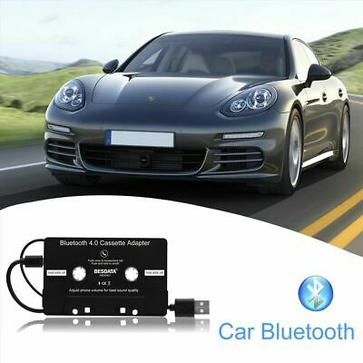 Bluetooth 4.0 AUX Audio Car Cassette Tape Adapter Converter for iPhone iPod MP3