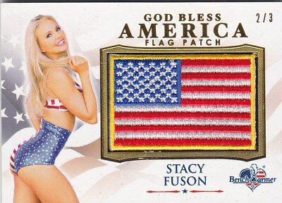 2017 Benchwarmer America The Beautiful Stacy Fuson Flag Patch Card /3