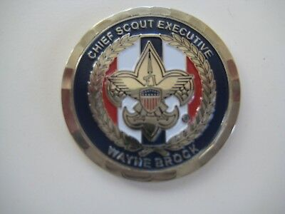 Chief Scout Executive Challenge Coin - Wayne Brock