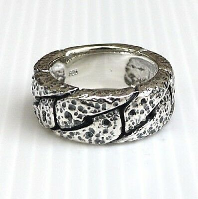 Hammered Knot 925 Sterling Silver Mens Ring New Biker Chopper Rocker Punk