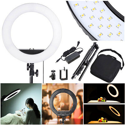"""13"""" LED Ring Light w/ Stand Dimmable 3200-5500K Lighting Kit Photo Video Makeup"""