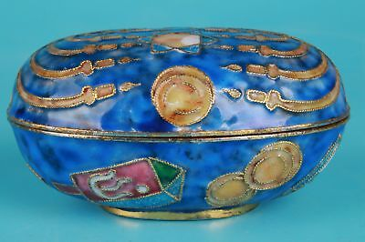 Cloisonne Hand Carving Jewelry Box Premium Chinese Gift Collection
