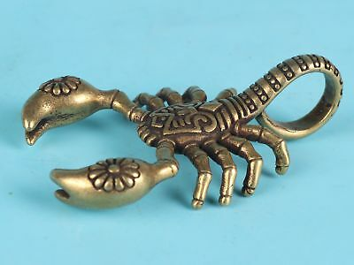 Unique Chinese Bronze Statue Solid Scorpion Mascot Collection Gift