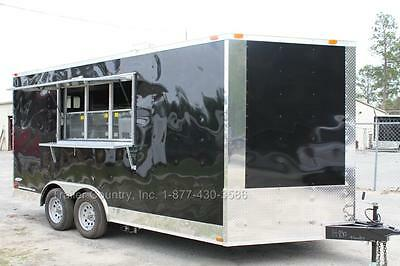 NEW 8.5 X 16 8.5X16 Enclosed Concession Food Vending BBQ Trailer W/ Equipment