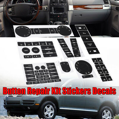 For 04-09 VOLKSWAGEN TOUAREG WORN BUTTON REPAIR KIT STICKERS DECALS VW CLIMATE