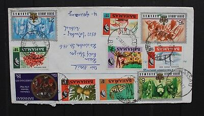 D7089 BAHAMAS 1977 philatelic cover to Germany 10!! different stamps