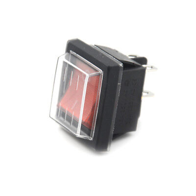 Red Button Rocker Switch 4 Plugs 16A 250V Electrical Equipment Switches ATAU