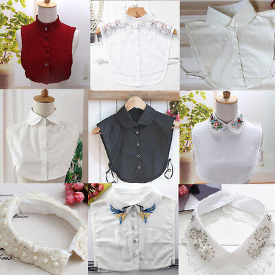 Women Detachable Peter Pan Lapel Shirt Fashion Fake False Collar Choker Ne CIV