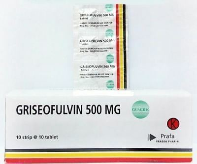 New ! Treatment Fungal infections of the skin/hair/nails Griseofulvin 100 tablet