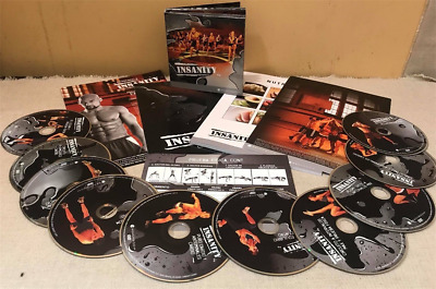 Insanity Workout Beachbody 10 Dvd Set New Fitness Elite Book Bargain Fit Gym