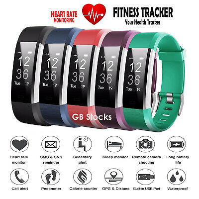 Fitness Smart Watch Activity Tracker Women Men Kid Android iOS For Fit bit Style