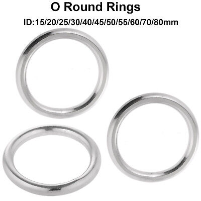 Welded Ring 316 Stainless Steel O Round Rings Circle Craft Webbing Boat Rigging
