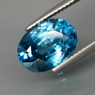6.43Ct.Ravishing Color&Clean Ultra Lustrous Natural BIG Blue Cambodian Zircon