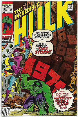"Dated 1971. ""The INCREDIBLE HULK"" Vol.1. #135. Kang the Conqueror. Fine"