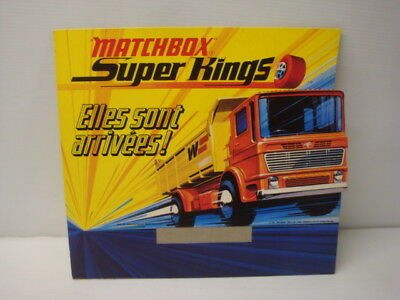 POS stand antico Matchbox Super Kings 1971 - vintage display giocattolo