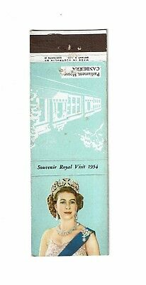 1 Old Bryant & May Australia 1954 with Striker Bookmatch Souvenir Royal Visit