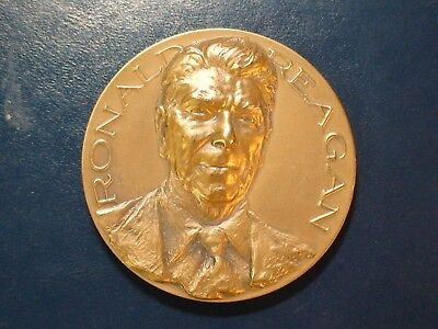 Ronald Reagan 40Th President Bronze Medallion Priced To Sell Quickly!